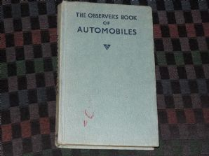OBSERVERS BOOK OF AUTOMOBILES (1974) no jacket